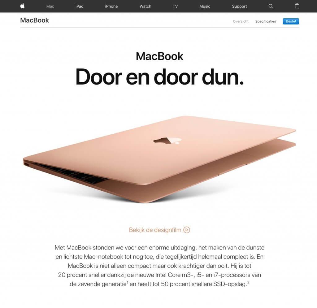 MacBook witruimte